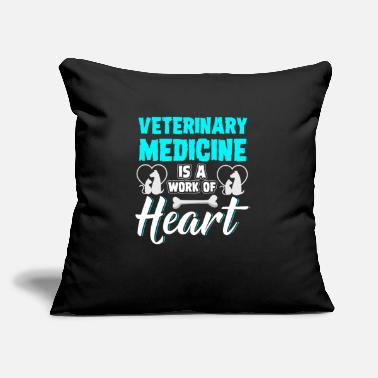 "Tech Veterinarian Heart Veterinary Medicine Quote Vet - Throw Pillow Cover 18"" x 18"""
