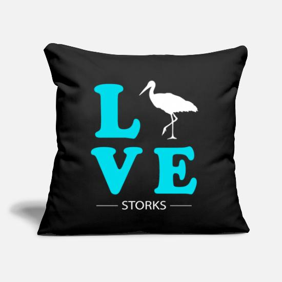 "Animal Rights Activists Pillow Cases - Stork - Throw Pillow Cover 18"" x 18"" black"