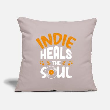 "Indie indie music - Throw Pillow Cover 18"" x 18"""