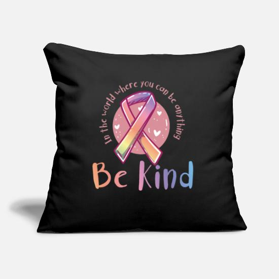 "Autism Pillow Cases - Be Kind Anti-Bullying - Throw Pillow Cover 18"" x 18"" black"