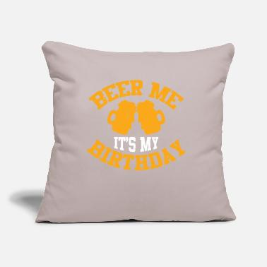 "Bursdag Beer Me Its My Birthday - Throw Pillow Cover 18"" x 18"""