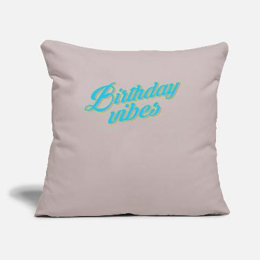 "Bursdag Happy Birthday Vibes - Throw Pillow Cover 18"" x 18"""