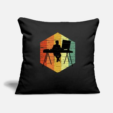 "Architect Vintage Designer T Shirt - Throw Pillow Cover 18"" x 18"""