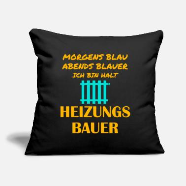 "Heat Heating engineer Heating construction Heating inst - Throw Pillow Cover 18"" x 18"""