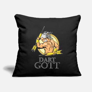 "Take It Or Leave It Darts God - Throw Pillow Cover 18"" x 18"""