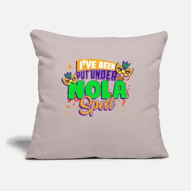 "Mardi Gras Mardi Gras ,Mardi Gras Nola - Throw Pillow Cover 18"" x 18"""
