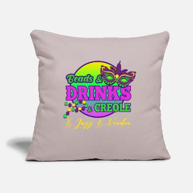 "Mardi Gras Mardi Gras ,Mardi Gras parade - Throw Pillow Cover 18"" x 18"""