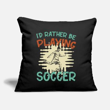 "Footbal Football Footballer Football team - Throw Pillow Cover 18"" x 18"""