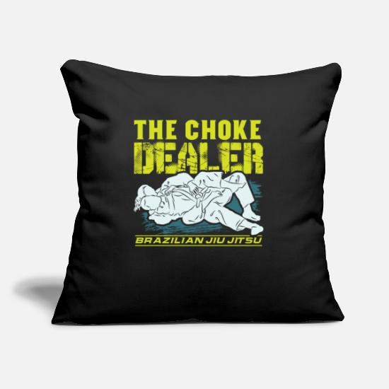 "Jiujitsu Pillow Cases - Brazilian Jiu Jitsu Jiujitsu BJJ Fighter Gift - Throw Pillow Cover 18"" x 18"" black"
