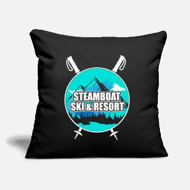 "Ski Resort Steamboat Ski Resort Ski Resort Snow Wintersport - Throw Pillow Cover 18"" x 18"""