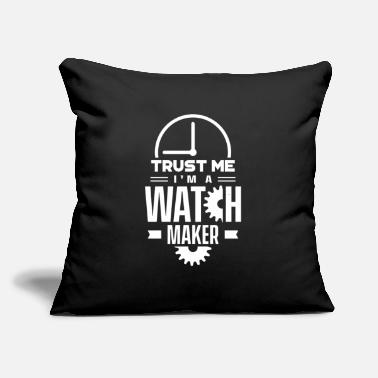 "Clock Watchmaker Watch Maker Watches Watchmaking Team - Throw Pillow Cover 18"" x 18"""