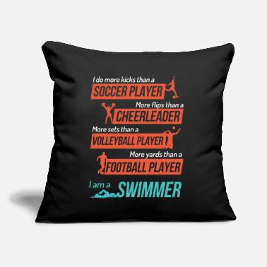 "I Am A Swimmer I Am A Swimmer - Throw Pillow Cover 18"" x 18"""