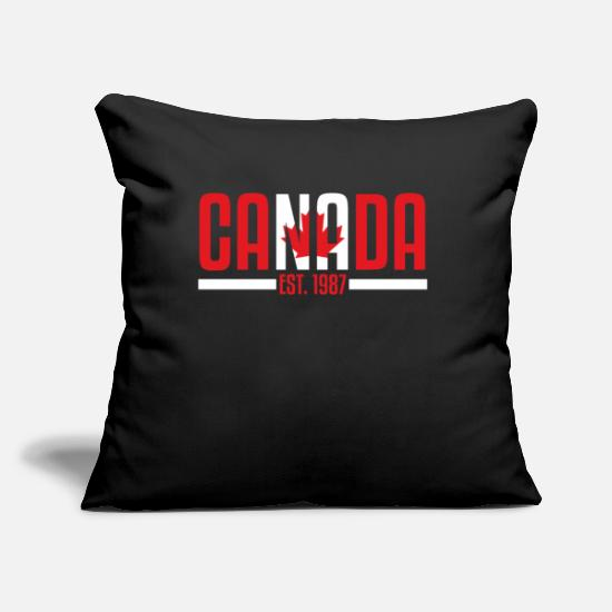 "Canada Pillow Cases - Canada Canadian - Throw Pillow Cover 18"" x 18"" black"