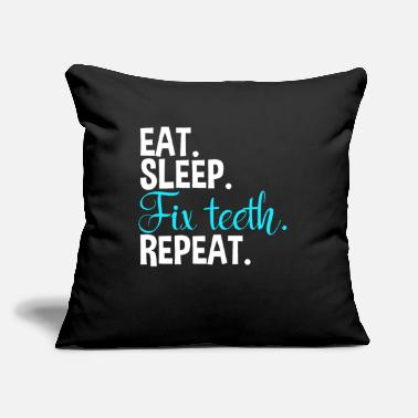 "Tooth Dentist Dental Assistant - Throw Pillow Cover 18"" x 18"""