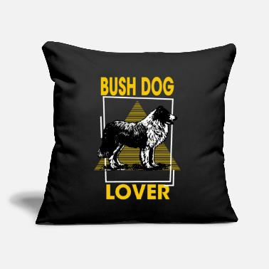 "Bush Bush Dog Lover - Bush Dogs, Bush Dog, Dog Bush - Throw Pillow Cover 18"" x 18"""