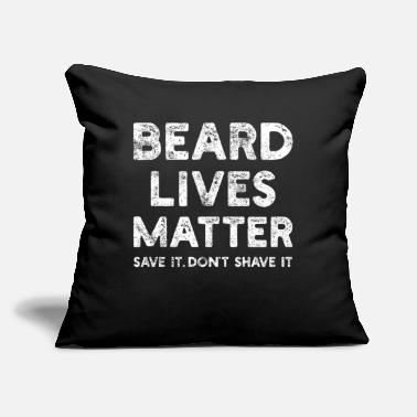 "Bearded Beard Bearded - Throw Pillow Cover 18"" x 18"""