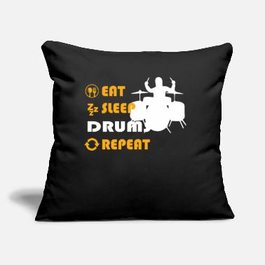 "Trommer Hobbies Tabour Drums Graphic Tee Shirt - Throw Pillow Cover 18"" x 18"""