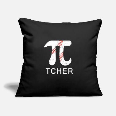 "Off Baseball Pi-tcher Math Funny Pi Day Gift Men Women - Throw Pillow Cover 18"" x 18"""