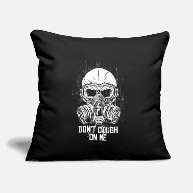 "GRUNGE GAS MASK VIRUS - Throw Pillow Cover 18"" x 18"""