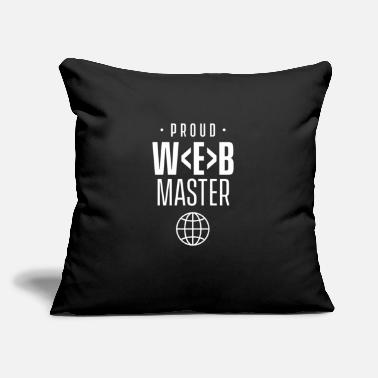 "Www Webmaster Coding Web Master Website Developer - Throw Pillow Cover 18"" x 18"""