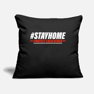 "Stayhome Stayhome - Throw Pillow Cover 18"" x 18"""