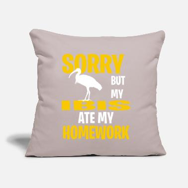 "Wood Ibis Funny Ibis Present Idea - Throw Pillow Cover 18"" x 18"""