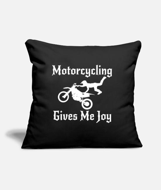 "Racing Pillow Cases - Motorcycle Diaries Helmet Kid Jacket Accessories - Throw Pillow Cover 18"" x 18"" black"