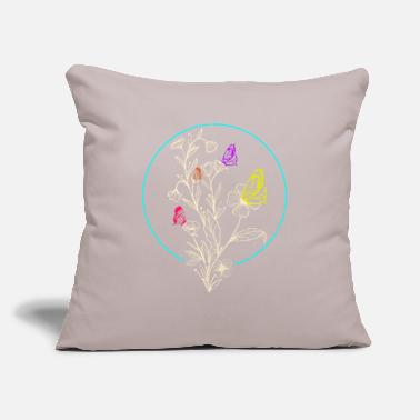 "Piano Butterfly - Throw Pillow Cover 18"" x 18"""