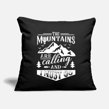 "Mountains mountains mountaineering mountains - Throw Pillow Cover 18"" x 18"""