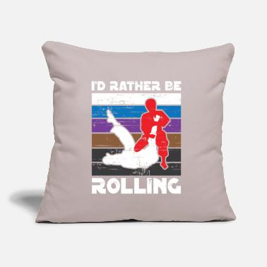 "Wing I'd rather be rolling MMA Martial Arts - Throw Pillow Cover 18"" x 18"""