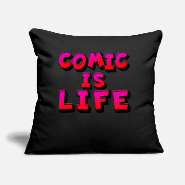 "Strip Comic is Life Style Font - Throw Pillow Cover 18"" x 18"""
