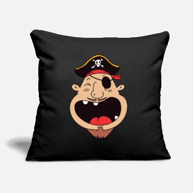 "Eye Patch Pirate With Eye Patch - Throw Pillow Cover 18"" x 18"""