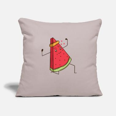 "Karate Watermelon does martial arts Karate - Throw Pillow Cover 18"" x 18"""