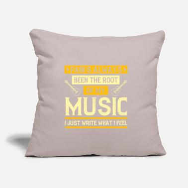 "Vinyl Music - Pain's Been The Root Of My Music - Throw Pillow Cover 18"" x 18"""