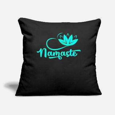 "Flora Lotus Namaste Blossom - Throw Pillow Cover 18"" x 18"""