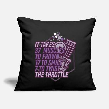 "Motivational Motorcycle Biker Racing Motorbike Motorcyclist - Throw Pillow Cover 18"" x 18"""
