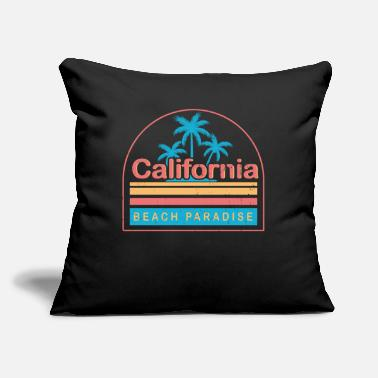 "Evening California Beach Paradise - Throw Pillow Cover 18"" x 18"""