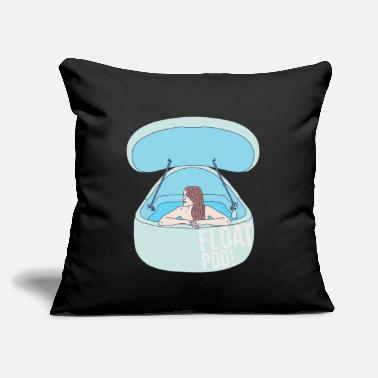 "Float Tank Float Pod - Water Tank - Sensory Deprivation - Throw Pillow Cover 18"" x 18"""