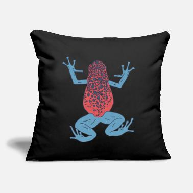 "Poison Dart Frog - Red Exotic Animal - Rain Forest - Throw Pillow Cover 18"" x 18"""