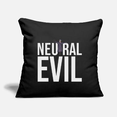 "Neutral Evil - Scarecrow Graphic Text - Roleplay - Throw Pillow Cover 18"" x 18"""