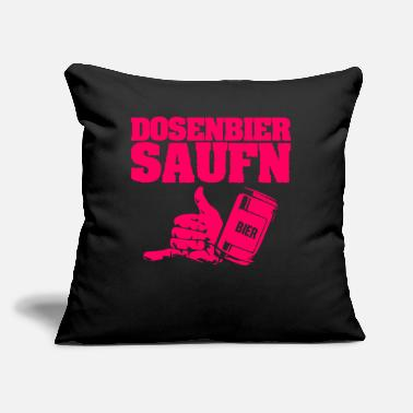 "Mason Pods Canned Beer Drink Booze Party - Throw Pillow Cover 18"" x 18"""