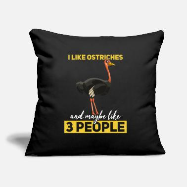 "Ostrich Ostrich Gift Funny Ratite Ostriches - Throw Pillow Cover 18"" x 18"""