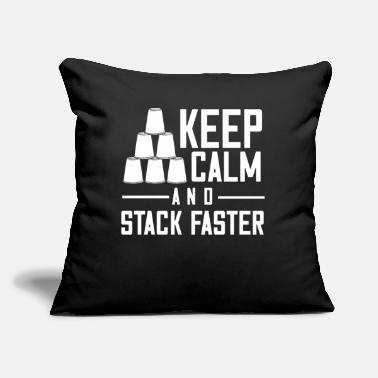 "Stacks Speed Stacks Gift Stack Master Stacking Cup - Throw Pillow Cover 18"" x 18"""