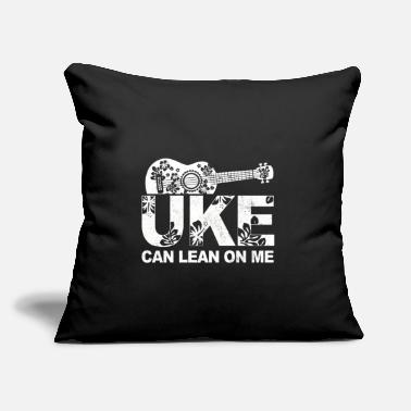 "Musician Uke Can Lean On Me Ukulele Player Hawaiian Musicia - Throw Pillow Cover 18"" x 18"""