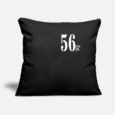 "Number 56 cincuenta y seis, pedeset sest, numero - Throw Pillow Cover 18"" x 18"""