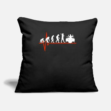 "Tambores Drums Heartbeat - EVOLUTION OF DRUMS - Throw Pillow Cover 18"" x 18"""