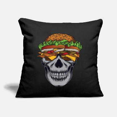 "Skull Skull Skull Flage - Throw Pillow Cover 18"" x 18"""