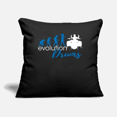 "Tambores Drums Evolution - Throw Pillow Cover 18"" x 18"""