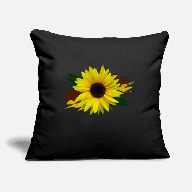 "sunflower, sunflowers, flower, bloom, floral petal - Throw Pillow Cover 18"" x 18"""