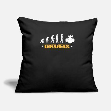 "Tambours EVOLUTION DRUMS - Throw Pillow Cover 18"" x 18"""